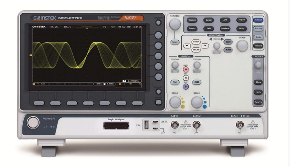 GW Instek's MSO-2000 series Oscilloscopes