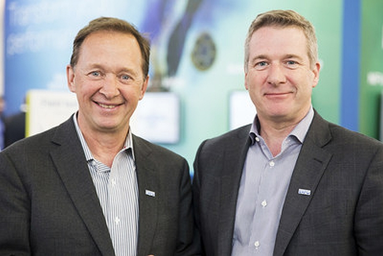 Left to right: Germain Lamonde, Exfo Founder & Executive Chairman, Philippe Morin, Exfo CEO