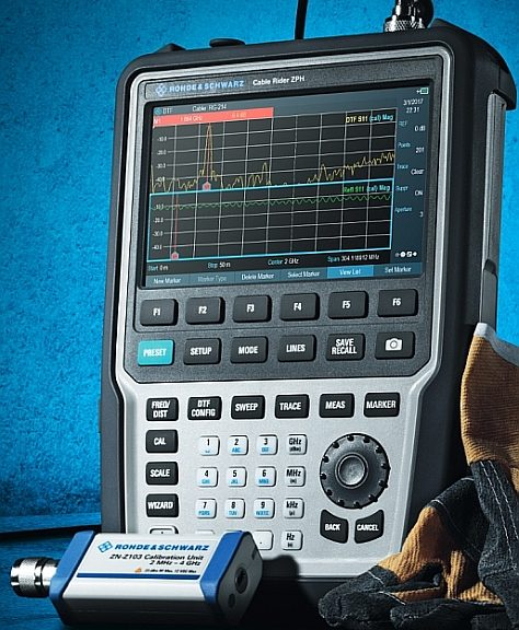 Handheld R&S Cable Rider ZPH cable and antenna analyzer from Rohde & Schwarz