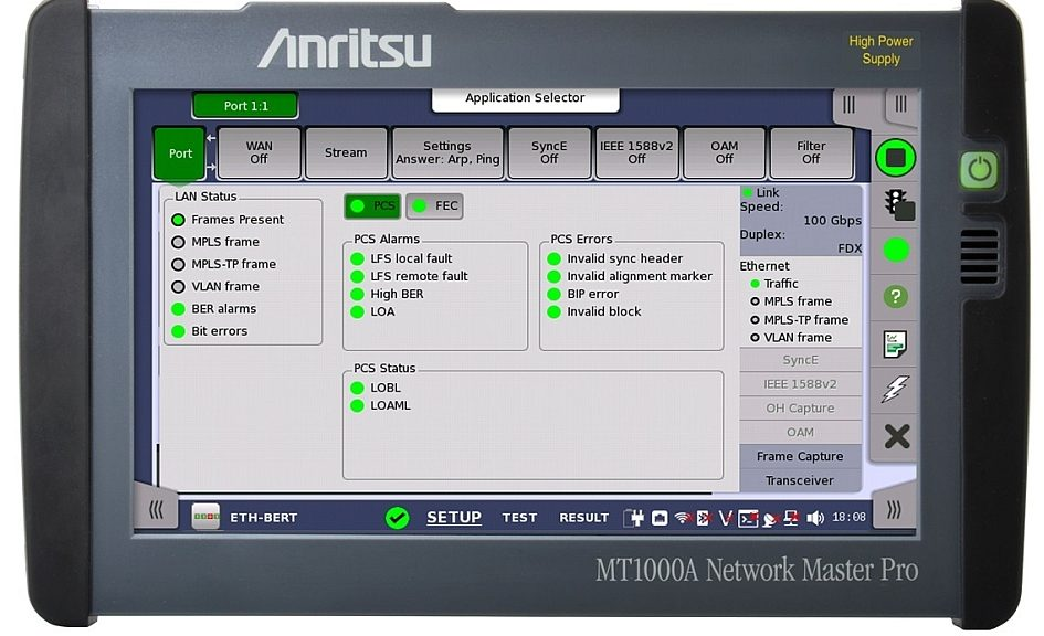 MT1000A Network Master Pro tester from Anritsu