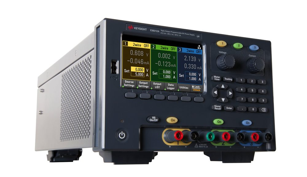 E36300 Series triple-output 80-W and 160-W programmable DC power of Keysight