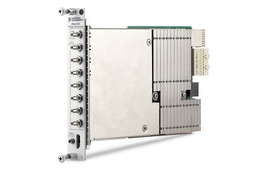 NI PXIe‑5172 high-density PXI oscilloscope of National Instruments