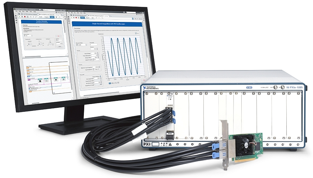 National Instruments's family of PXI remote control and bus extension modules with PCI Express Gen 3 connectivity
