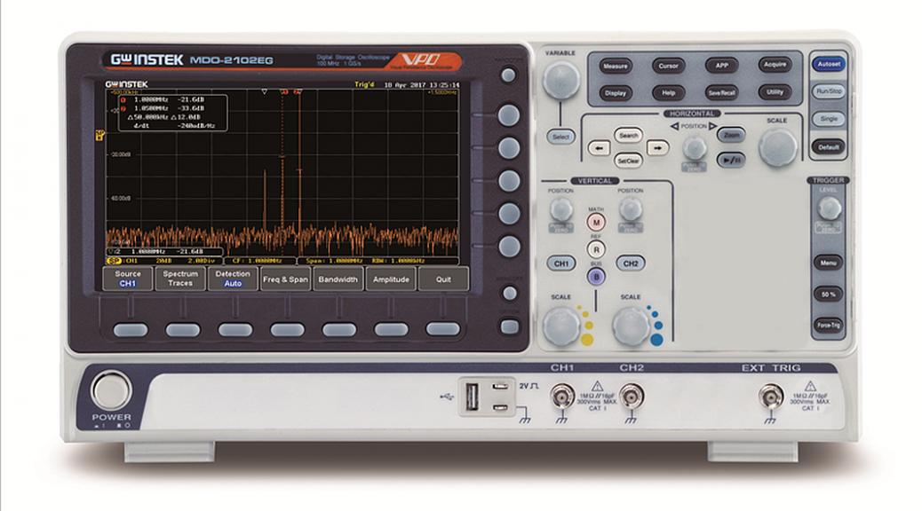 GW Instek's MDO-2000E series of mixed domain oscilloscope