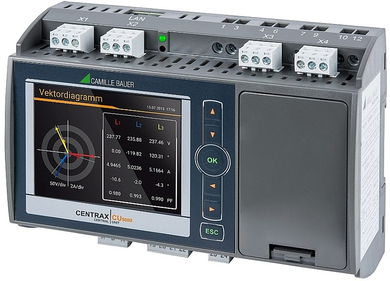 Centrax CU5000 from Camille Bauer Metrawatt for electrical quality monitoring