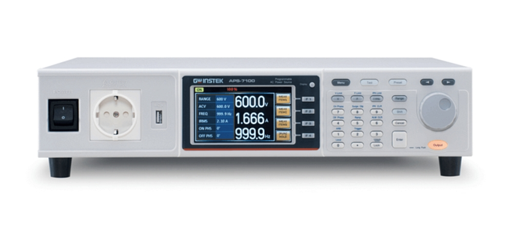 APS-7000 series programmable AC power sources from GW Instek