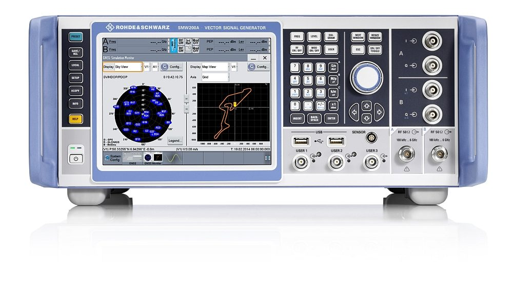 Multi-frequency and multi-antenna GNSS simulator R&S SMW200A from Rohde & Schwarz