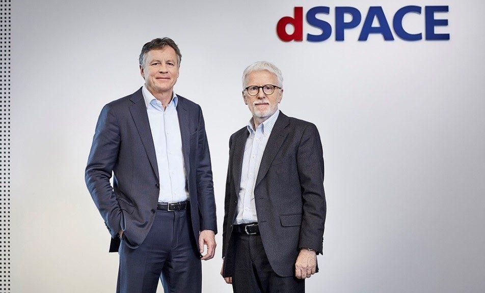 he founder and CEO of dSpace Herbert Hanselmann (right) handed over to Martin Goetzeler