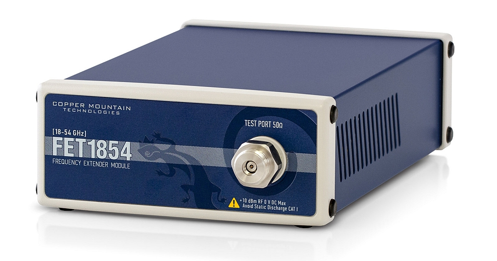 Copper Mountain FET1854 frequency extension system for 5G test.