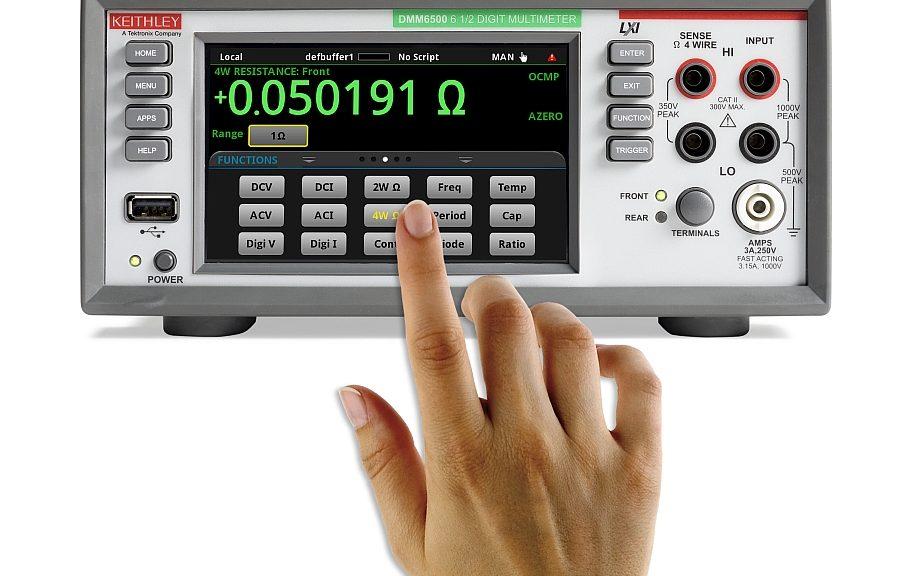 6½ digits Digital multimeter Keithley DMM6510 from Tektronix.