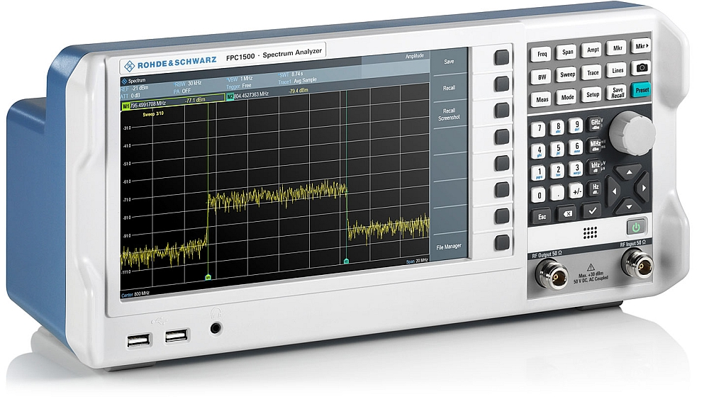 The Rohde & Schwarz R&S FPC1500 spectrum analyzer.