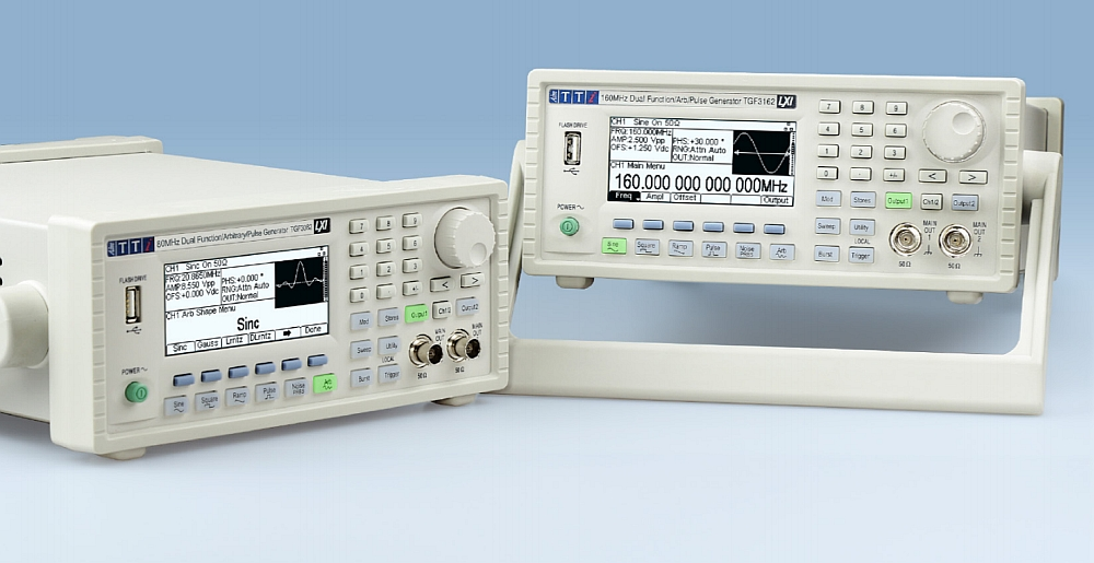 TGF3000 arbitrary signal and function generators from Aim-TTi.