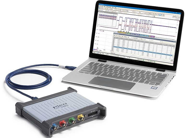 FlexRes and MSO PicoScope 5000D Series oscilloscopes from Pico Technology.