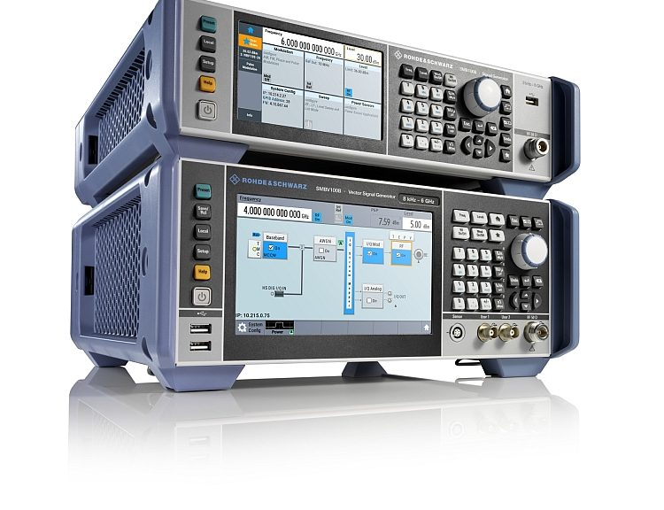 R&S SMB100B analog RF signal generator and R&S SMBV100B vector signal generator from Rohde & Schwarz.