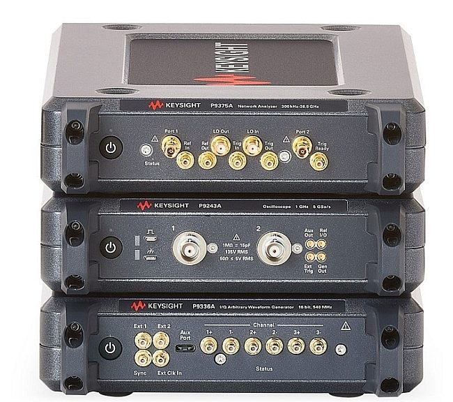 Keysight Streamline Series consists of three types of instruments integrated in a compact front panelless housing and controlled by PC via a USB connection.