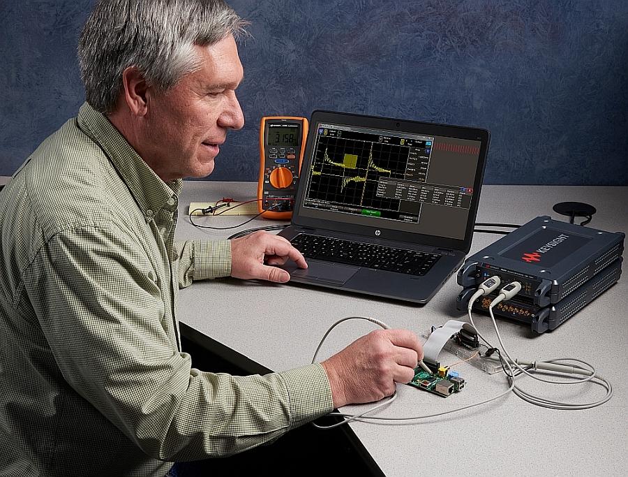 Keysight Streamline Series USB controlled instrument modules: vector network analyzers (VNA), oscilloscopes and arbitrary generator (AWG).