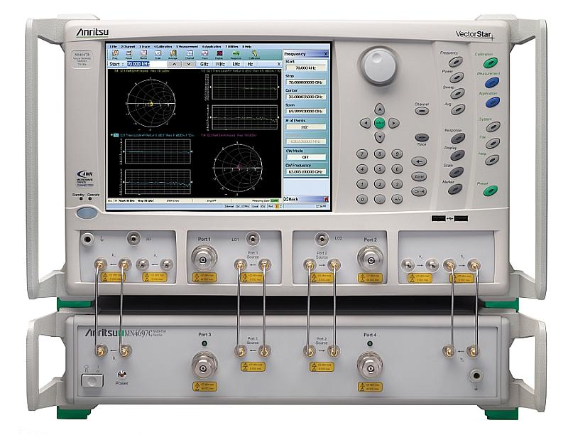 Differential noise factor measurement option for Anritsu VectorStar vector network analyzer.