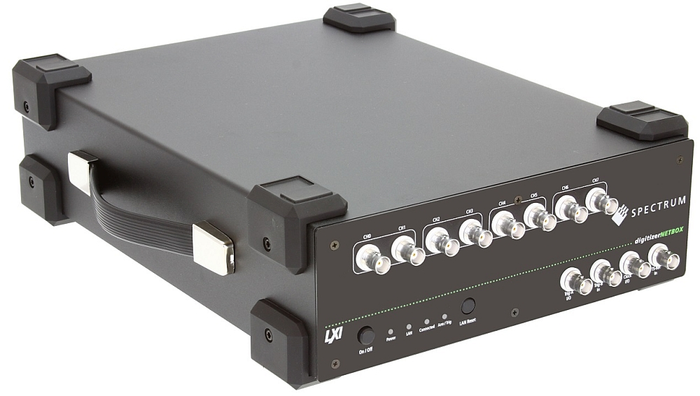 The DN2.59x digitizerNETBOX series from Spectrum consists of different models with 4, 8 and 16 channels.