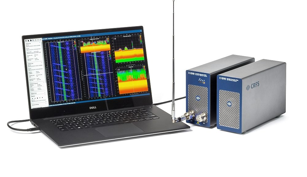 CRFS DeepView software for detailed RF spectrum analysis.