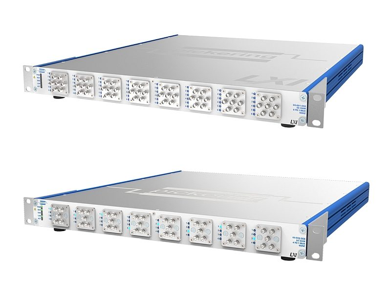 Pickering Interfaces 60-801 and 60-802 Series LXI Multiplexers.