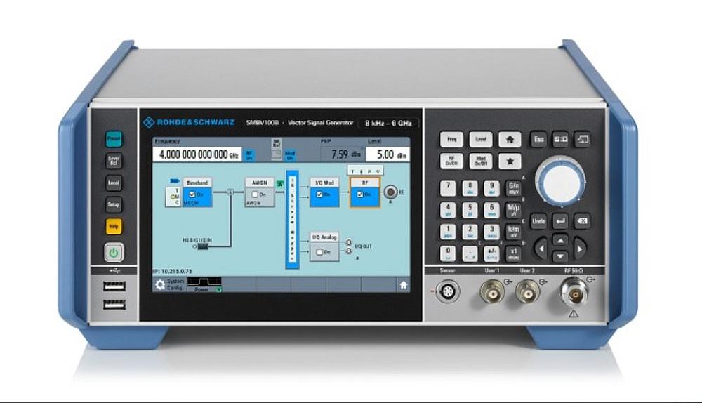 Rohde & Schwarz R&S SMBV100B vector signal generator.