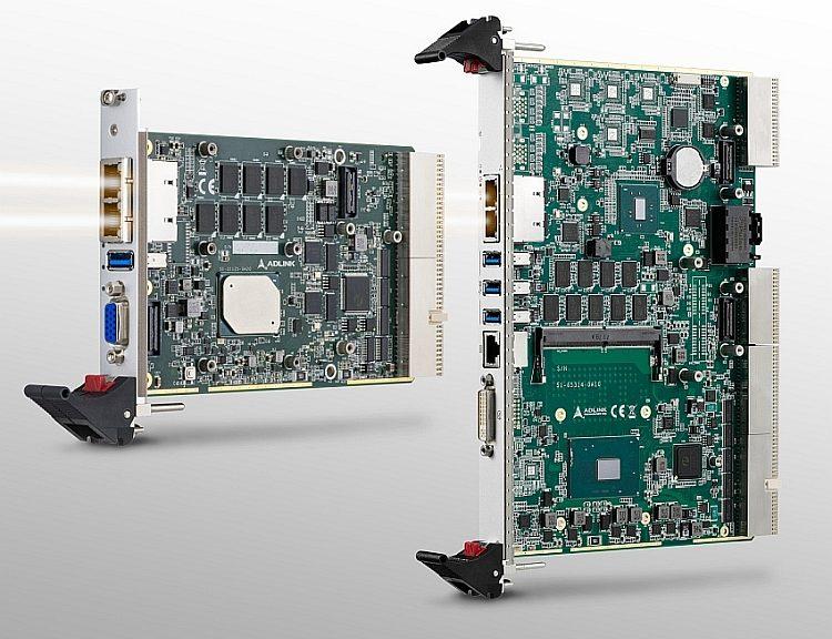 Adlink Technology CompactPCI 2.0 processor blades: cPCI-3630 and cPCI-6636.