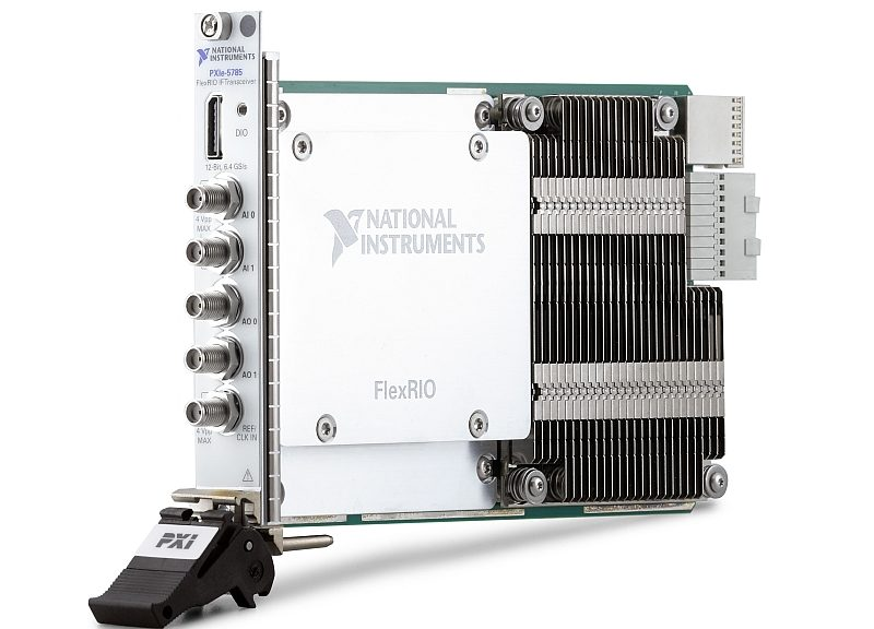 National Instruments PXIe-5785 transceiver.