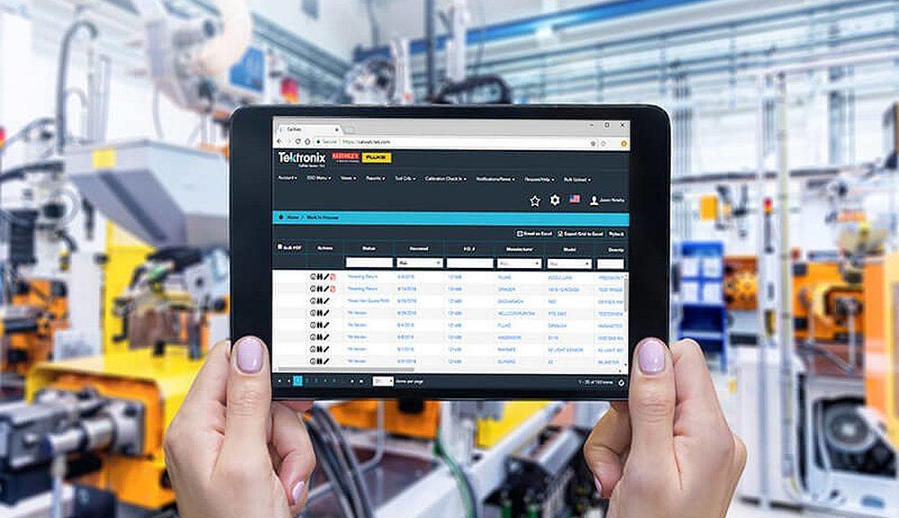 CalWeb cloud-based asset management platform from Tektronix