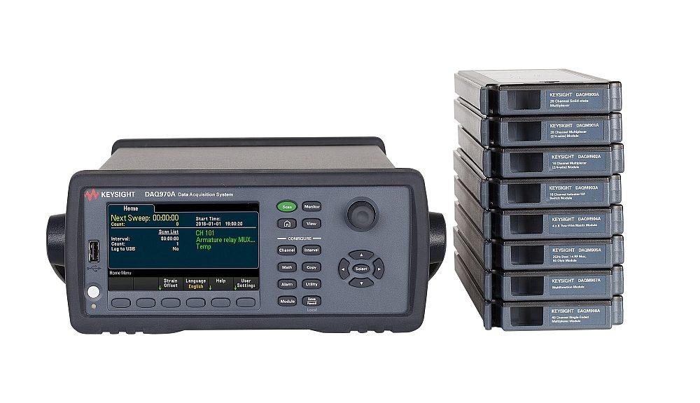 Keysight DAQ970A data acquisition system.