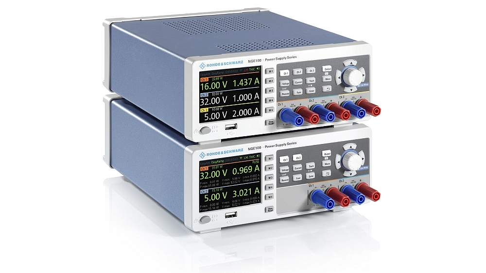 R&S NGE100B power supplies from Rohde & Schwarz.