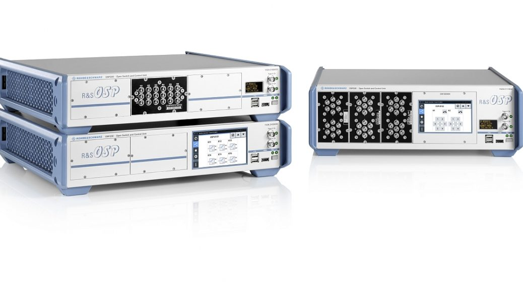 R&S OSP220/230/320 switching units from Rohde & Schwarz.