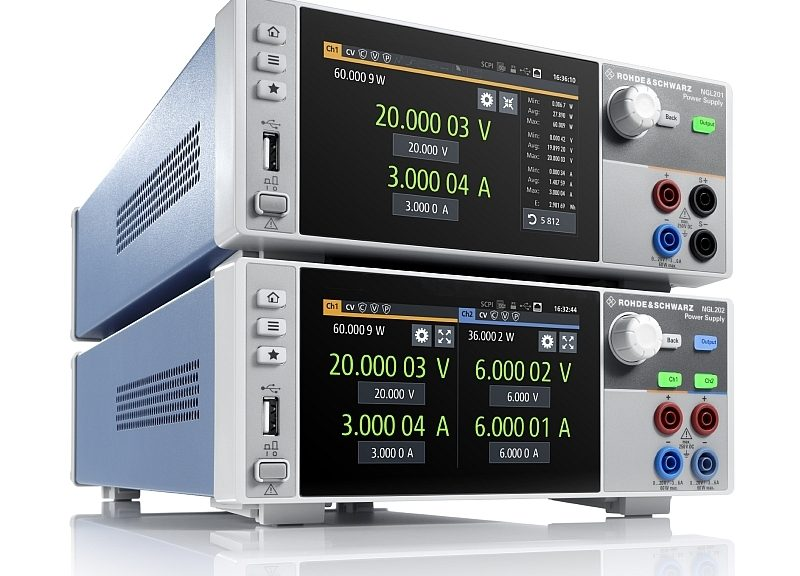 R&S NGL200 series power supplies from Rohde & Schwarz.