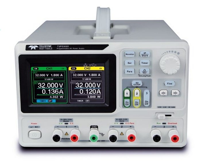 Teledyne Test Tools's T3PS3000 programmable DC power supply.