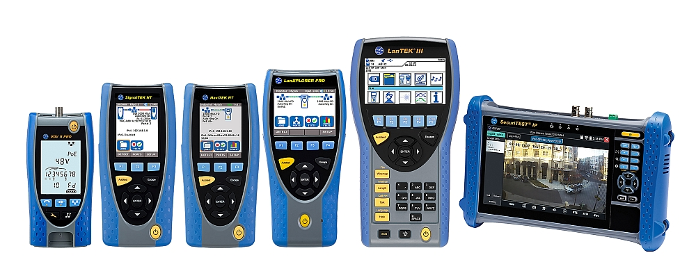 Portable instruments family from Ideal Networks.