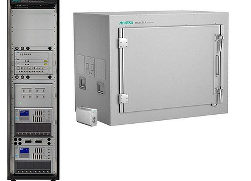 ME7834NR test Platform from Anritsu and OTA chamber MA8171A.