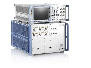R&S CMX500 and R&S CMW500 5G communication testers from Rohde & Schwarz.