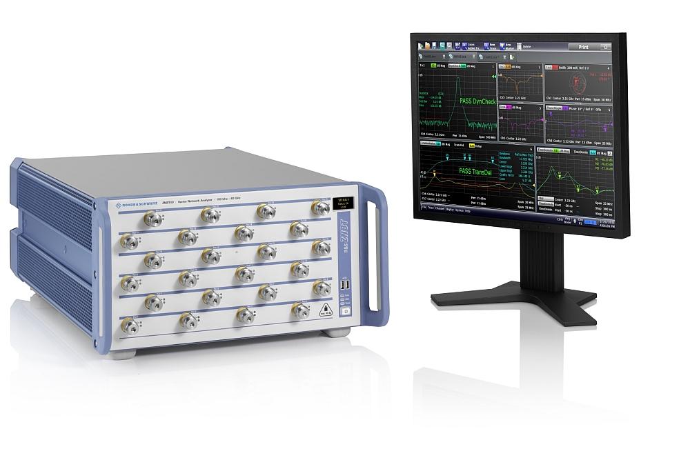 Rohde & Schwarz R&S ZNBT40 vector network analyzer.