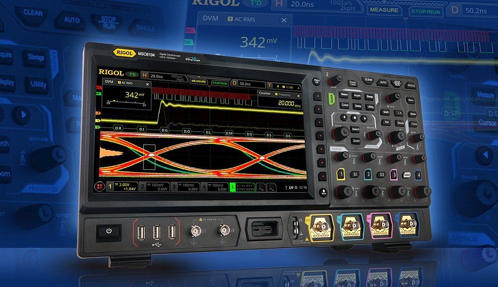 Rigol MSO8000 oscilloscope.