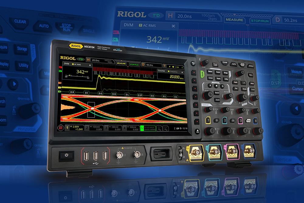 Rigol announces the oscilloscopes of the MSO8000 Series | Temcom