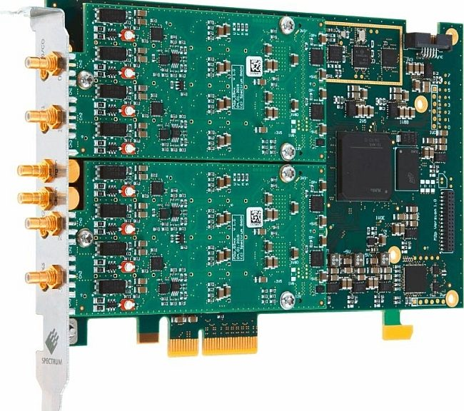 Spectrum AWG cards in PCIe format M2p.6533-x4 and M2p.6568-x4.