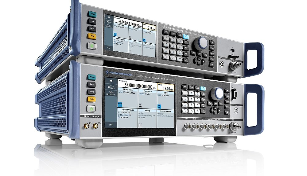 R&S SMA100B signal generator from Rohde & Schwarz..