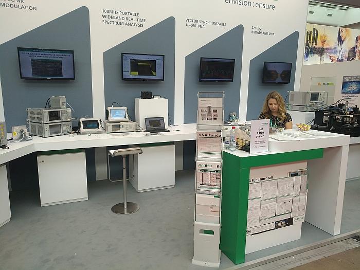 Anritsu' booth at EuMW 2019