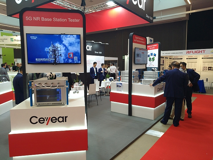 Ceyear' booth at EuMW 2019