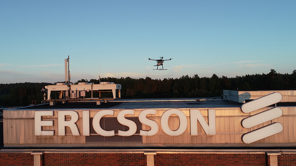 Drone for 5G test developed by Ericsson and Rohde & Schwarz.