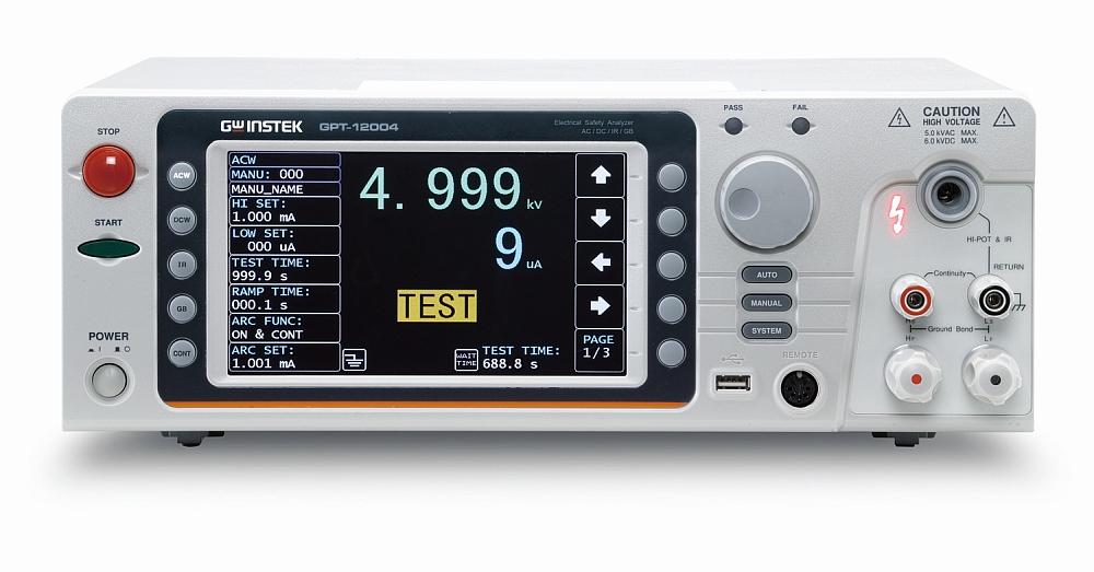 GW Instek GPT-12000 electrical safety analyzer.