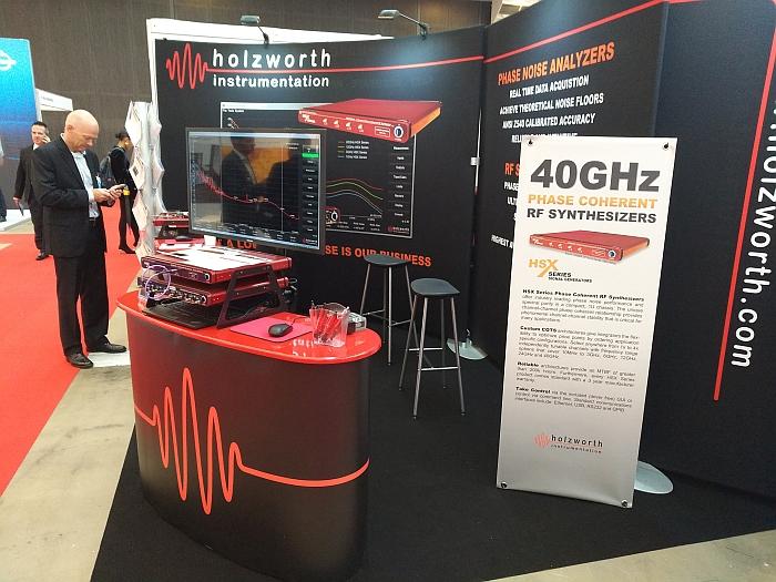Holzworth Instrumentation' booth at EuMW 2019.