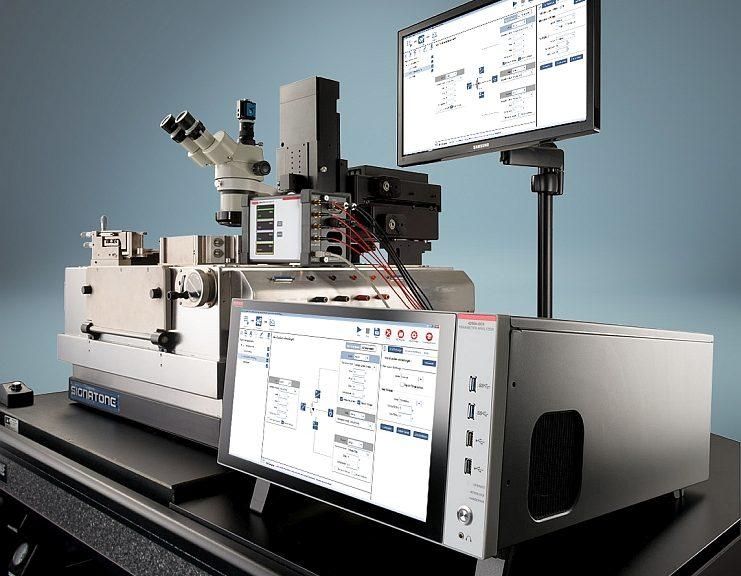 Keithley 4200A-SCS parameter analyzer.