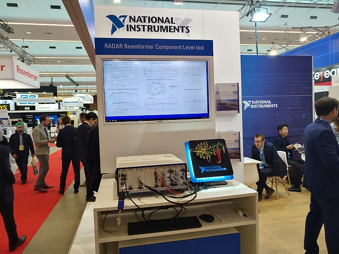 National Instruments radar test at EuMW 2019