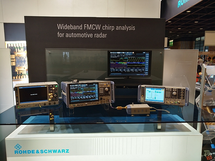 Rohde & Schwarz automotive radar test at EuMW19