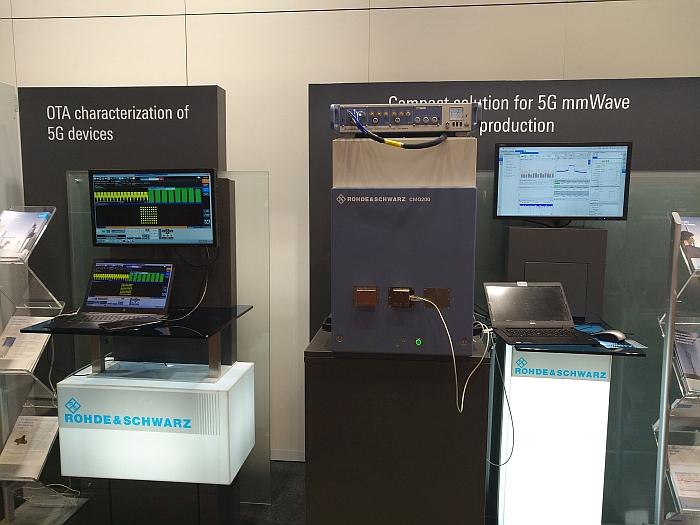 Rohde & Schwarz OTA 5G test at EuMW19